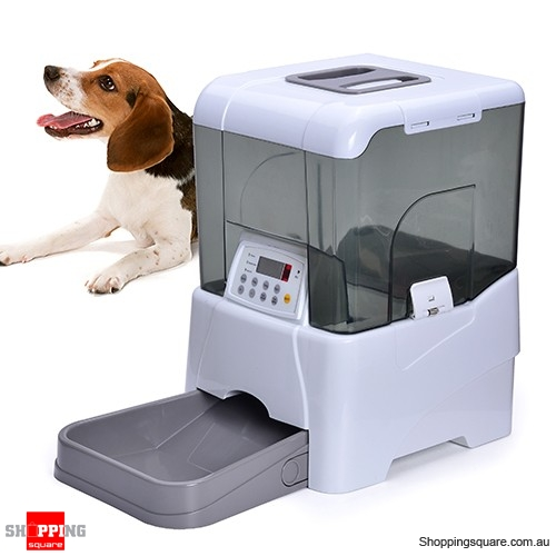 nursemaid automatic animal feeder p colour remote pet controlled white