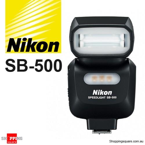 Nikon sb 500 af speedlight flash light flashgun shoe mount for Flash nikon sb 500