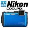 Nikon Coolpix AW120 Waterproof Compact Digital Camera Blue