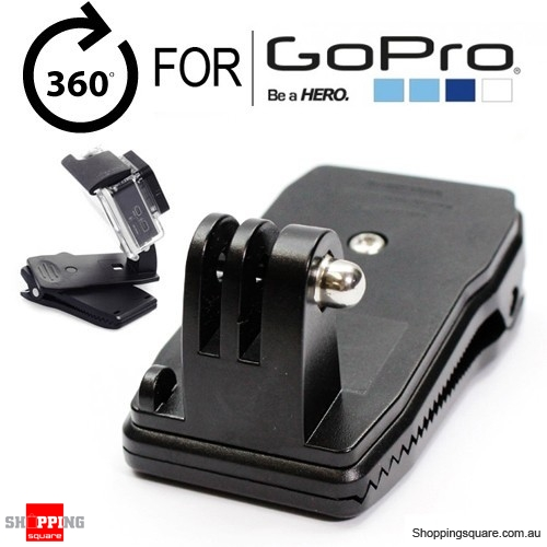 360 Degree Rotary Quick Release Backpack Rucksack Hat Clip Clamp Mount for GoPro HERO 5/4/3+/3/2/1