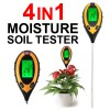 4-in-1 LCD temperature Moisture Sunlight Digital PH Soil Tester Meter