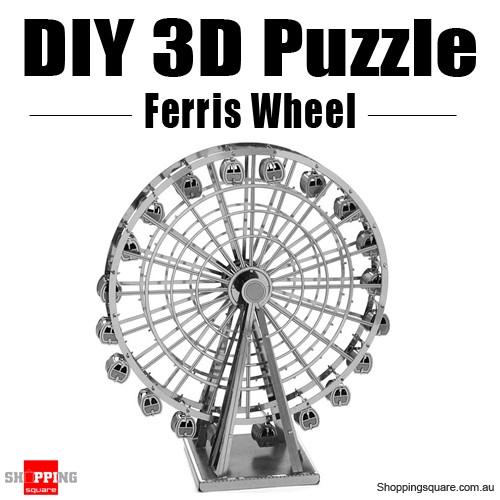 diy 3d metal laser cut puzzle - ferris wheel