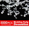 5000 Diamond Table Scatters Clear 4.5mm Wedding Party Decoration