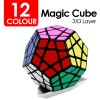 12-Colour 3X3-Layer Megaminx Magic Cube