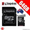 Kingston 64GB Micro SDXC Card Class 10 UHS-I SDCX10/64GB