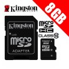 Kingston 8GB microSDHC Class 10 UHS-I TF Memory Card with Adapter