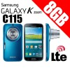 Samsung Galaxy K Zoom C115 LTE 8GB Mobile Camera Blue