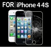 For iPhone 4 4S Premium Real Tempered Glass Film Screen Protector