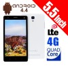 5.5 Inches QHD IPS Touch 4G LTE Dual Sim Andriod 4.4 GPS Quad-Core Mobile Phone White