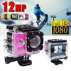 GoAction SJ4000 WiFi Full HD 1080P 12MP Waterproof Sports Action Camera Pro DV Pink Colour