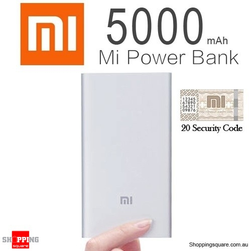 100% Genuine XIAOMI Ultra Slim 5000mAh Portable Power Bank Battery Charger (Refurbished)