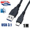 1M USB 3.0 Type A Male to USB 3.1 Type C Male Data Cable for the New MacBook