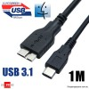 1M USB 3.1 Type C Male to USB 3.0 Micro B Male Cable Adapter for the new MacBook