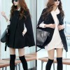 Lady Winter Warm Casual Batwing Sleeve Wool Cape Poncho Jacket Coat Size 8
