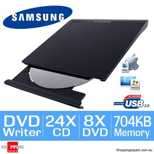 Samsung SE-208GB/RSBD Slim External USB DVD-Writer Portable DVD ROM Drive (Black)