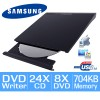 Samsung SE-208GB/RSBD Slim External USB DVD-Writer (Black)