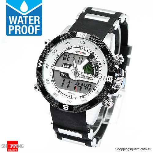 New Men's Dual Movement LCD Digital Waterproof Sports Watch