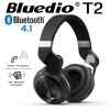New Bluedio T2 Wireless Bluetooth V4.1 Stereo Headphones BLACK