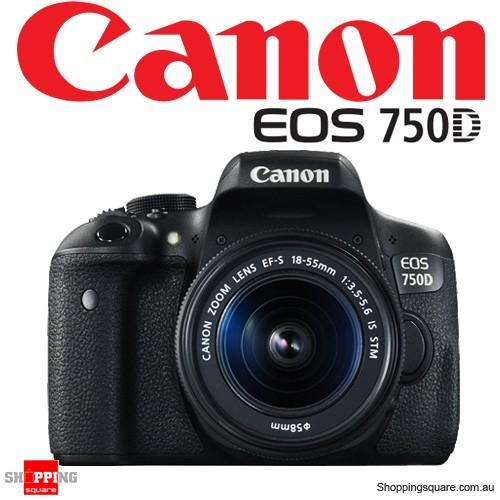 Canon EOS Kit 750D EF-S 18-55mm IS STM Digital Camera Black