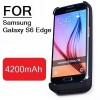 For Samsung Galaxy S6 Edge 4200mAh Battery Power Bank Case Charger Black Colour