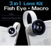 3 in 1 Fish Eye + Wide Angle Macro Lens Kit for iPhone 6 and 6 Plus