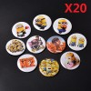 20X HOT Cute Despicable Me 2 minions Movie Character Round Pin Button Brooch Badges