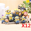 HOT Cute Despicable Me 2 minions Movie Character Figures Doll Toy set of 12pcs