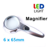 6X 65MM Handheld Magnifier with 6...
