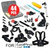 Ultimate Accessories Pack 44PCS for GoPro Hero 5 4 3 2 with Chest and Head Belts