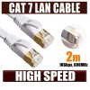 2M CAT7 RJ45 10Gbps 600MHz Ethernet Network LAN Flat Cable