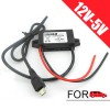 12V to 5V 3A DC Step Down Waterproof Power Supply Converter with Micro USB Charger