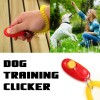 Dog Pet Obedience Training Clicker Button With Wrist Coil- Red Colour