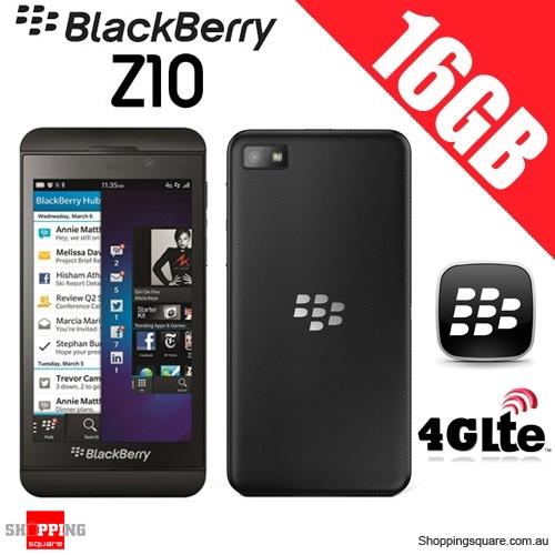 BlackBerry Z10 4G/3G WI-FI 16GB 8MP Smartphone Black - Refurbished