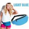 Unisex Bum Bag for Running Hiking Sports with Waist Belt Light Blue Colour