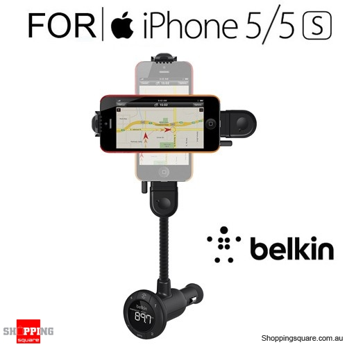 Belkin Tunebase Hands-Free FM Lighting Charger for IPhone SE 5/5S IPod 5th Gen
