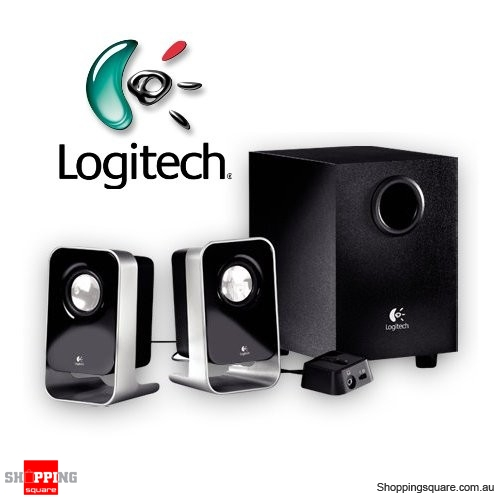 Logitech LS21 2.1CH Subwoofer Stereo Speaker System with Wired Remote