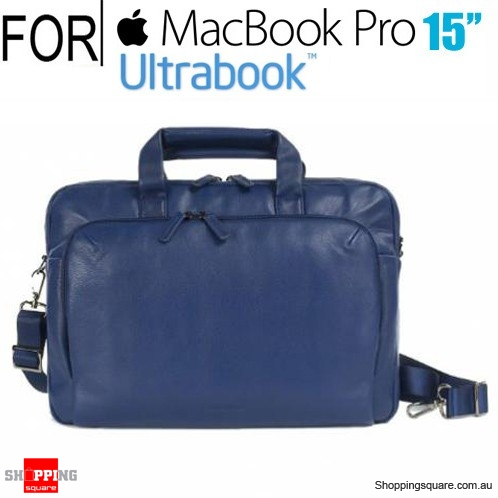 Tucano One Premium Slim Real Leather Bag for Macbook Pro 15 inch and Ultrabook  Blue Colour - Online Shopping   Shopping Square.COM. 8c9941ad2f04a