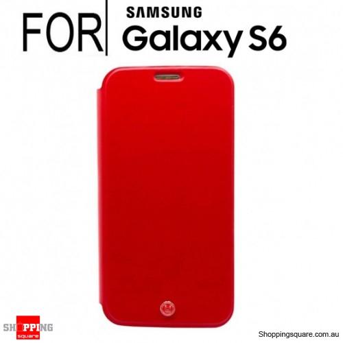 Uunique London Samsung Galaxy S6 Folio Hard Shell Red