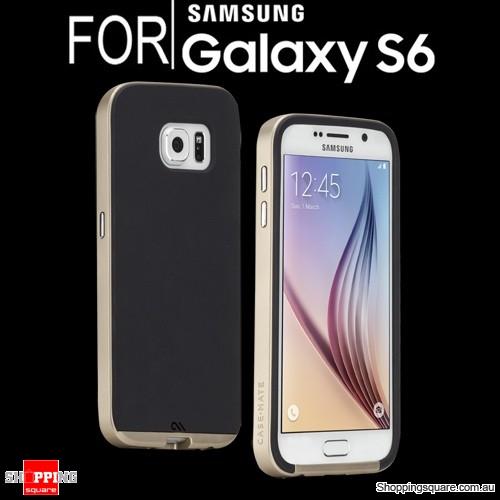 Case-Mate Slim Tough Case Black/Gold Colour for Samsung Galaxy S6