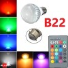LED Light Colour Changing Bulb B22 RGB Remote Controlled