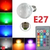 LED Light Colour Changing Bulb E27 RGB Remote Controlled