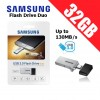 Samsung Flash Drive DUO 32GB USB 3.0 Up to 130MB/s Micro USB Smartphone PC Tablet OTG