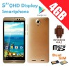 5'' Dual Core Android Dual Sim GOLD Colour qHD Smartphone 3G Unlocked