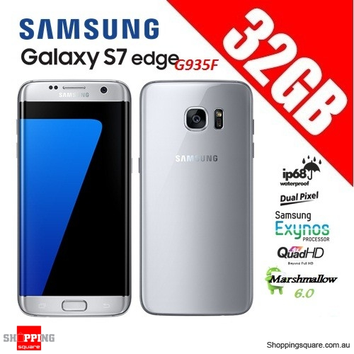 Samsung Galaxy S7 Edge G935F 4G 32GB Unlocked Smart Phone Silver - For parts/ Not working