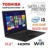 "Toshiba Satellite PRO R50 Core i3-4005U 15.6"" 500GB 4GB Windows 7 PSSG0A-01X01R Laptop"