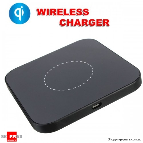 Mini Aluminium Qi Wireless Charging Pad For Samsung Galaxy S7 S6 Edge+ LG Nokia Black Colour
