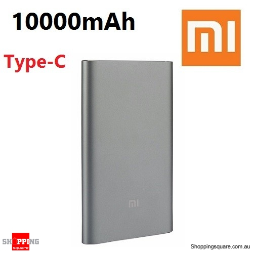 2016 New Genuine Xiaomi 10000mAh Both-way QC2.0 Quick Charge Type-C Power Bank Pro For iPhone Samsung LG Gray Colour