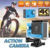 Ultra 4K HD1080P Waterproof Sport Action Camera Supports WiFi Helmet Mounting Blue Colour