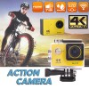 Ultra 4K HD1080P Waterproof Sport Action Camera Supports WiFi Helmet Mounting Yellow Colour