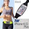 Rain Waterproof Outdoor Sports Running Fitness GYM Waist Bag with Adjustable Belt for iPhone 6 Plus/6S Plus Black Colour